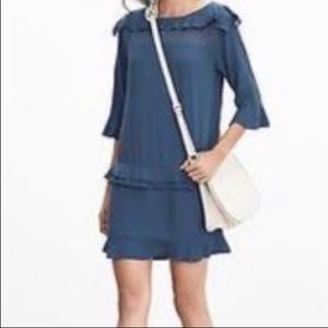 BANANA REPUBLIC Bell Sleeve Ruffle Tiered Dress